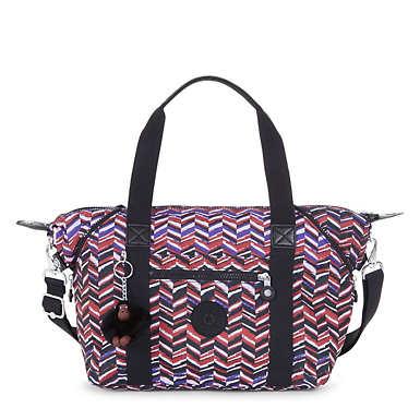 Art S Printed Handbag - Dashing Stripes