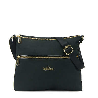 Caroline Crossbody Bag - Black Crosshatch