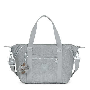 Art U Metallic Handbag - Silver Glimmer Metallic