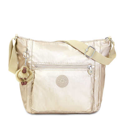Bethel Metallic Handbag - Sparkly Gold