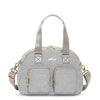 Defea Handbag - Slate Grey Croc