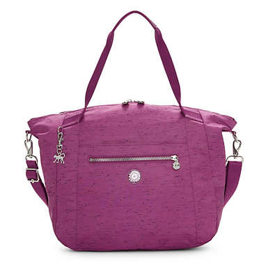 Kingsley Tote Bag - Purple Garden