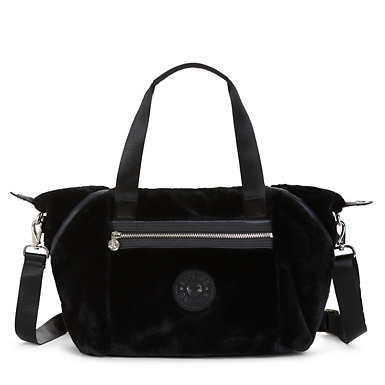 Art S Faux Fur Handbag - Black