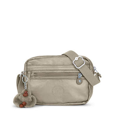 Aveline Metallic Crossbody Bag - Metallic Pewter