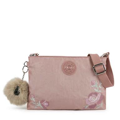 키플링 Kipling Tessa Convertible Handbag,Metallic Blush