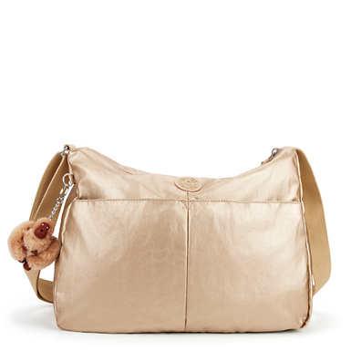 키플링 Kipling Rosita Metallic Crossbody Bag,Toasty Gold