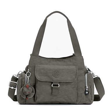 키플링 Kipling Felix Large Handbag,Dusty Grey