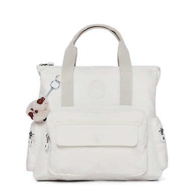 키플링 Kipling Alvy 2-In-1 Convertible Tote Bag Backpack,Alabaster Tonal Zipper
