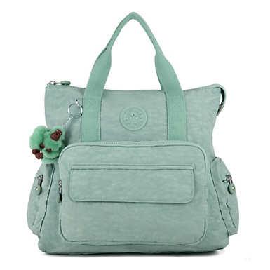 키플링 Kipling Alvy 2-In-1 Convertible Tote Bag Backpack,Fern Green Tonal Zipper