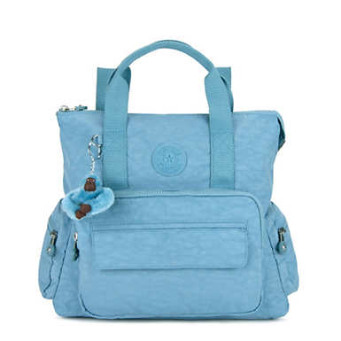 키플링 Kipling Alvy 2-In-1 Convertible Tote Bag Backpack,Blue Beam Tonal Zipper