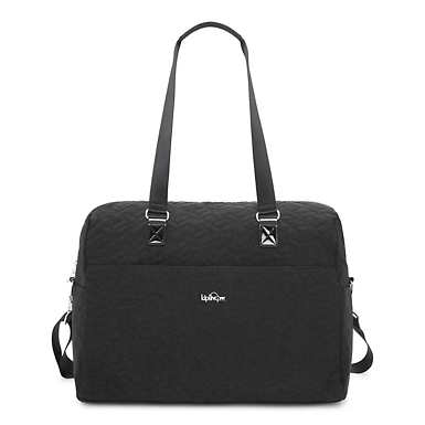 Sasso Quilted Weekender Tote Bag - Black