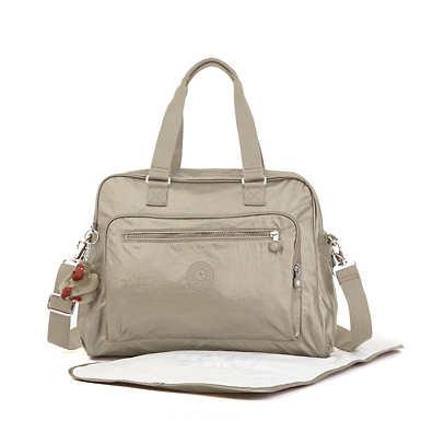 키플링 Kipling AlannaMetallic Diaper Bag,Metallic Pewter