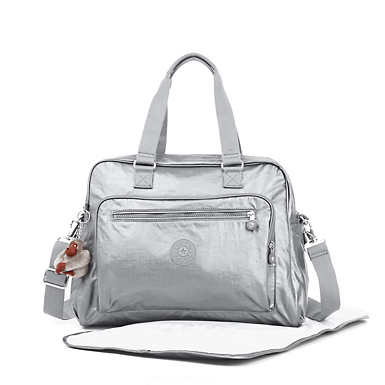 Alanna Metallic Diaper Bag - undefined