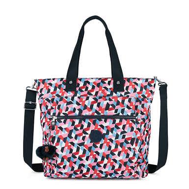 키플링 Kipling LizziePrinted 15 Laptop Tote Bag,Forever Tiles