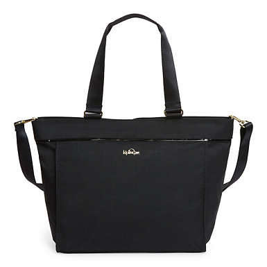 New Shopper Large Tote - Black Crosshatch