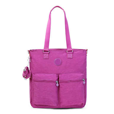 Relanna Laptop Tote Bag - Purple Garden