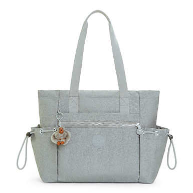 Jasper Metallic Tote Bag - Silver Glimmer Metallic
