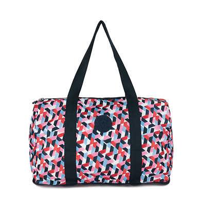 키플링 Kipling HonestPrinted Foldable Duffel Bag,Forever Tiles