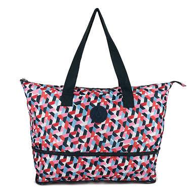 키플링 Kipling ImaginePrinted Foldable Tote Bag,Forever Tiles