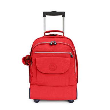 키플링 Kipling Sanaa Large Rolling Backpack,Cherry