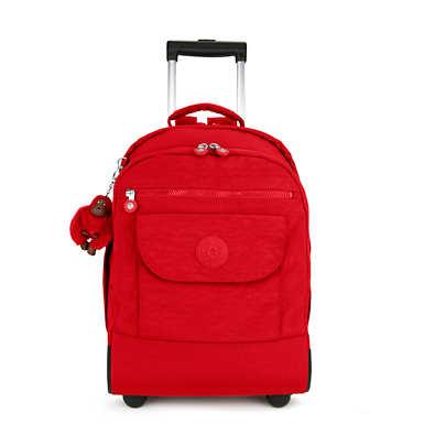 키플링 Kipling SanaaLarge Rolling Backpack,Cherry Tonal Zipper