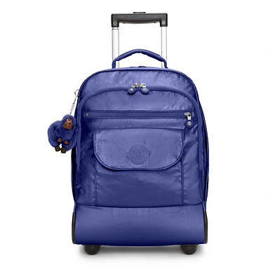 Sanaa Metallic Rolling Backpack - Enchanted Purple Metallic
