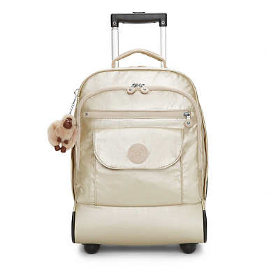 Sanaa Metallic Rolling Backpack - undefined