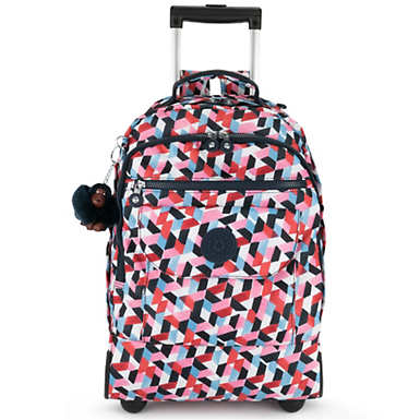 키플링 Kipling SanaaLarge Printed Rolling Backpack,Forever Tiles