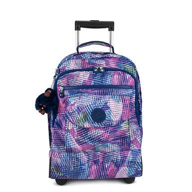 키플링 Kipling SanaaLarge Printed Rolling Backpack,Radiant Splash