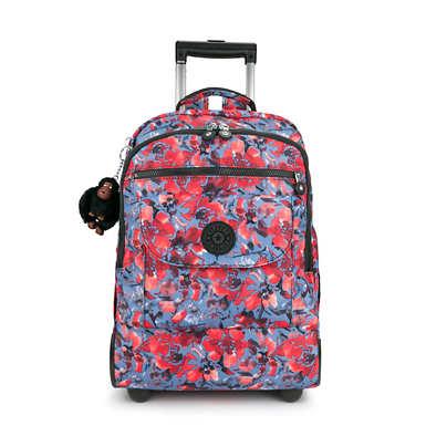 키플링 Kipling Sanaa Large Printed Rolling Backpack,Festive Floral