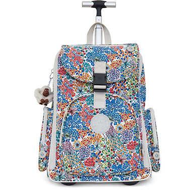 Alcatraz II Printed Rolling Laptop Backpack - Little Flower Blue