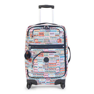 Darcey Small Printed Rolling Luggage - Hello Weekend