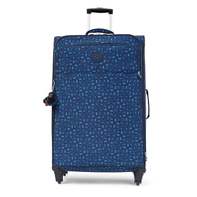 Parker Large Printed Rolling Luggage - Monkey Mania Blue