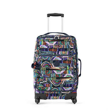 Darcey Small Printed Carry-On Rolling Luggage - Graffiti Waves