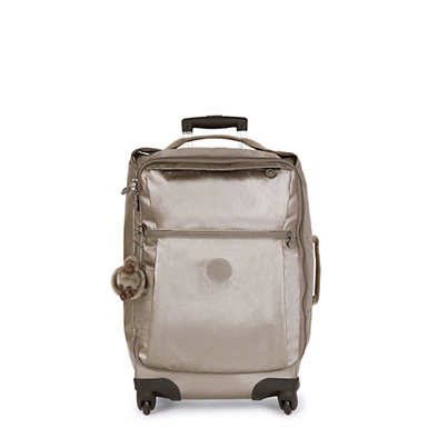 Darcey Small Metallic Carry-on Rolling Luggage - Metallic Pewter