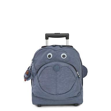 키플링 Kipling Big Wheely Kids Rolling Backpack,True Jeans