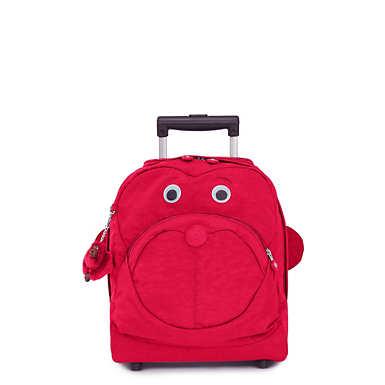 키플링 Kipling Big Wheely Kids Rolling Backpack,True Pink