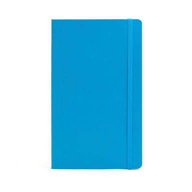 POPPIN MEDIUM SOFT COVER NOTEBOOK - Pool Blue