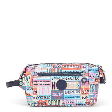 Aiden Printed Toiletry Bag - Hello Weekend