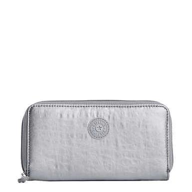 Clarissa Metallic Continental Zip Wallet - undefined