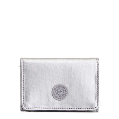 Clea Snap Wallet - Platinum Metallic