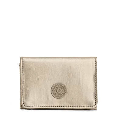 Clea Snap Wallet - Champagne Metallic