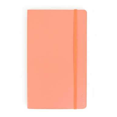 Poppin Medium Soft Paper Cover Notebook - Coral Pink
