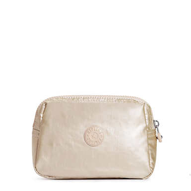 Mandy Metallic Pouch - Sparkly Gold