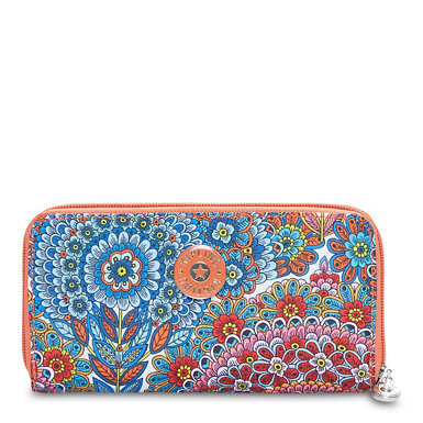 Clarissa Printed Continental Zip Wallet - Sunshine Happy