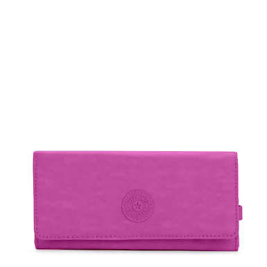 New Teddi Snap Wallet  - Purple Garden