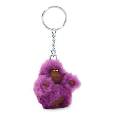 Baby Monkey Key Fob - Purple Garden