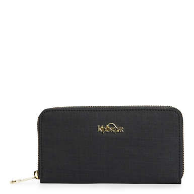 Vanessa Wallet - Black Crosshatch