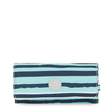 New Teddi Printed Snap Wallet - Spectacle Stripe
