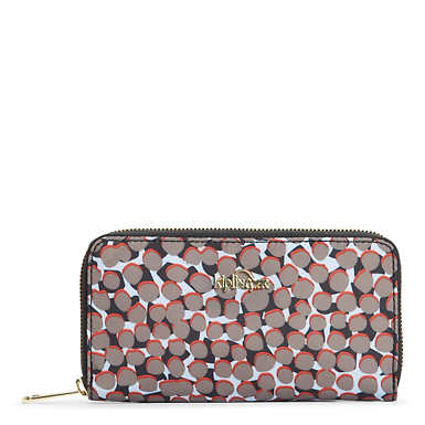 Vanessa Printed Wallet - Graphic Animal Brown